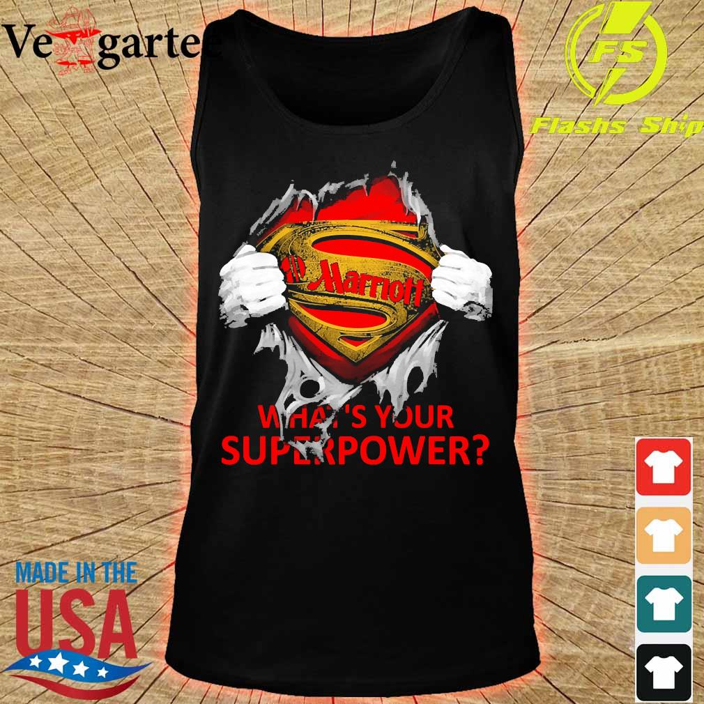 Blood inside me Marriott what's your superpower s tank top