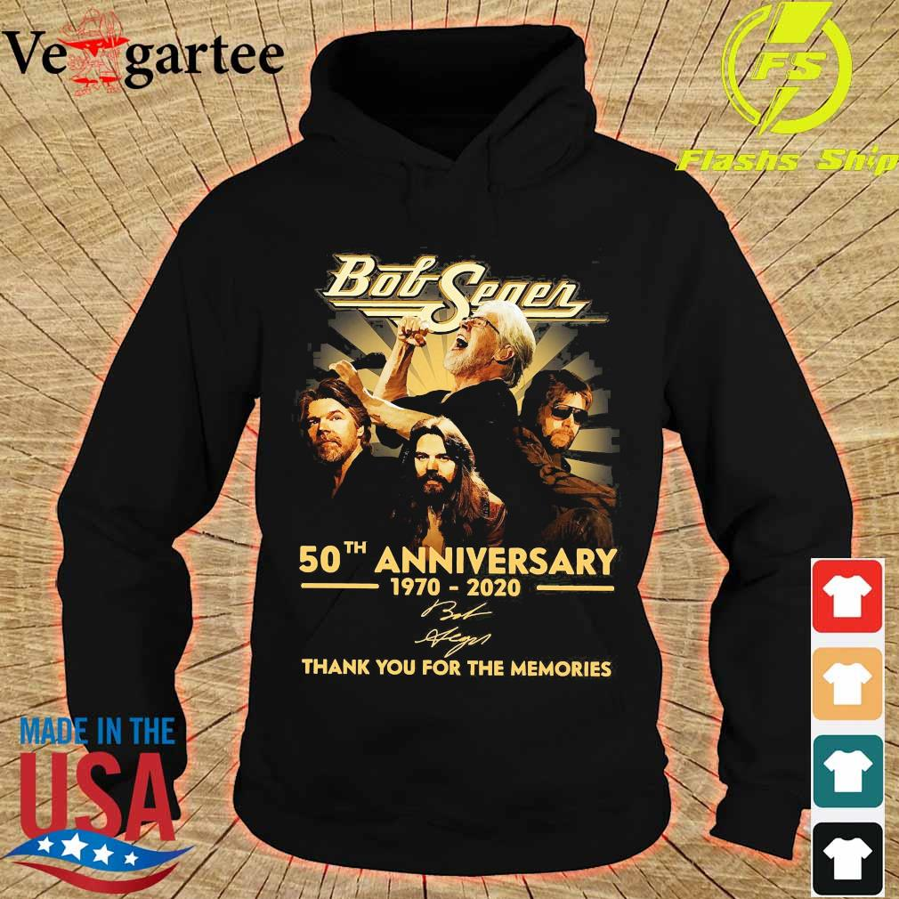 Bob Seger 50th anniversary 1970 2020 thank You for the memories signature s hoodie