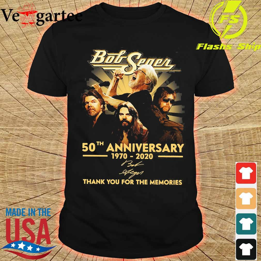 Bob Seger 50th anniversary 1970 2020 thank You for the memories signature shirt