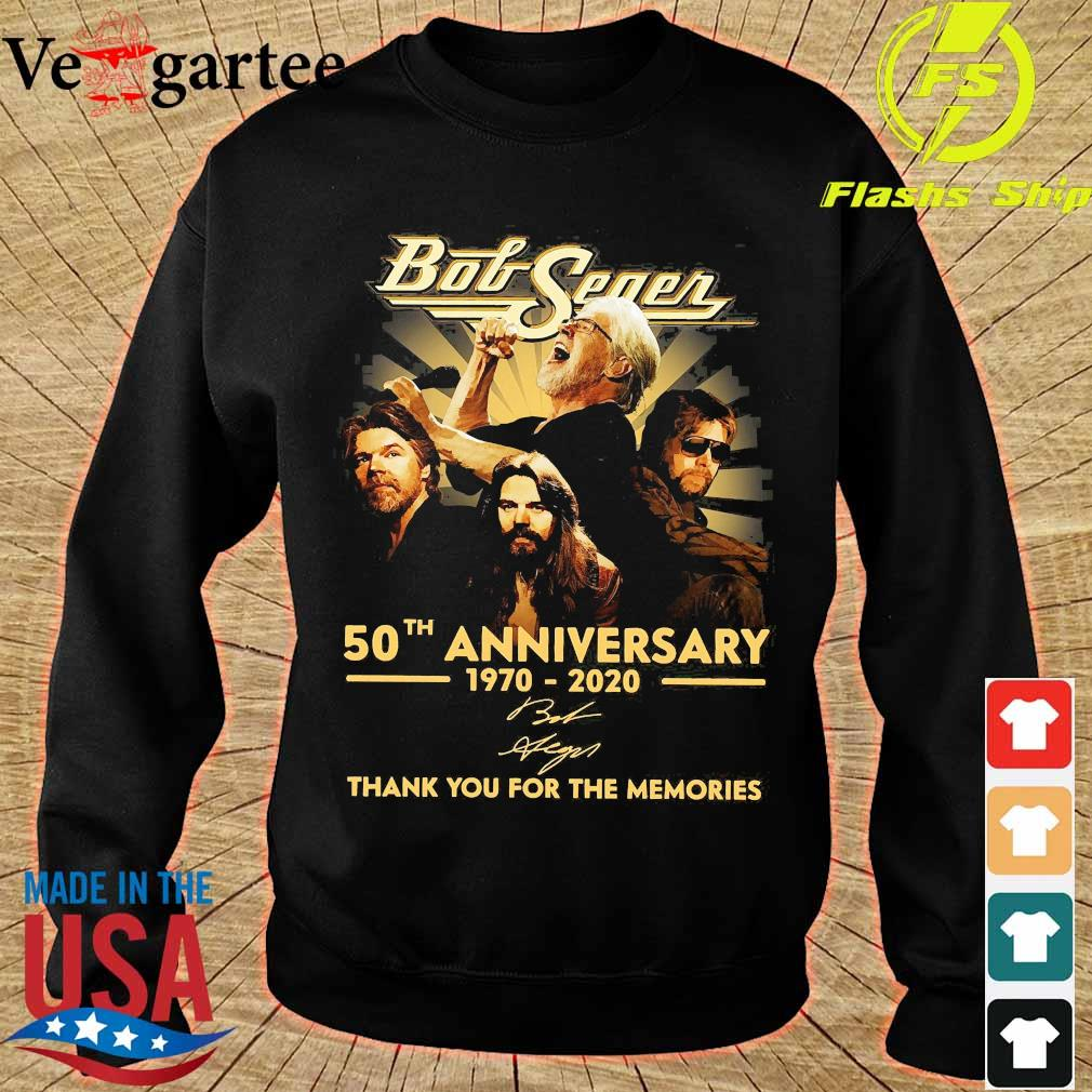 Bob Seger 50th anniversary 1970 2020 thank You for the memories signature s sweater