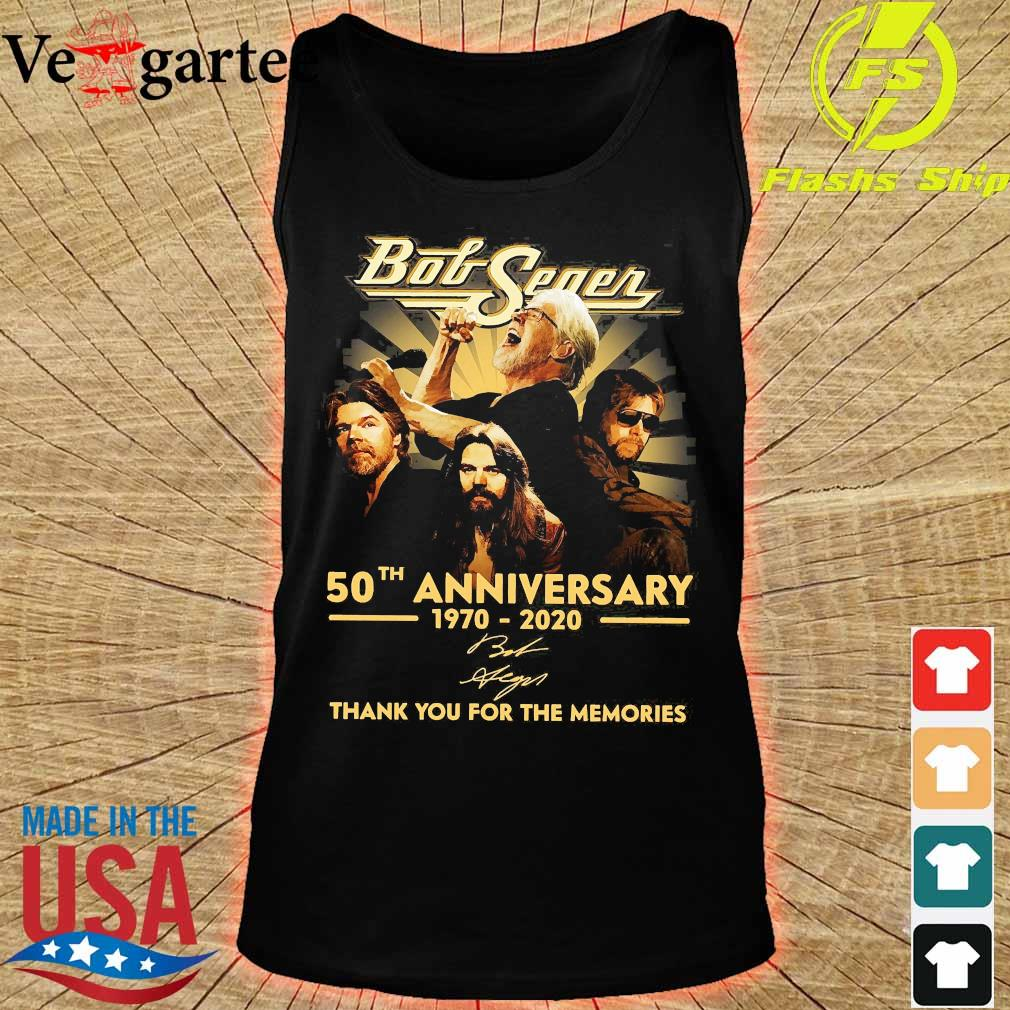 Bob Seger 50th anniversary 1970 2020 thank You for the memories signature s tank top