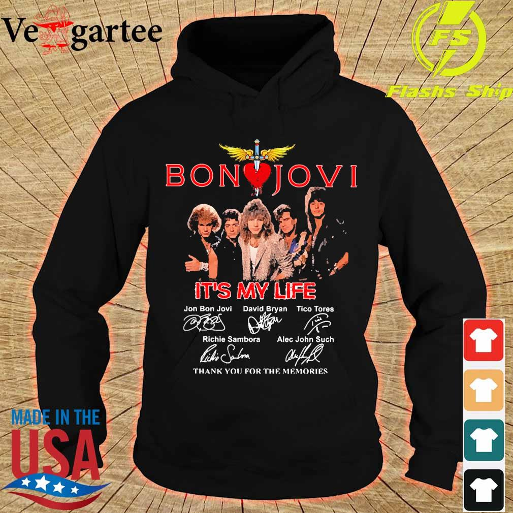 Bon Jovi It's my life thank You for the memories signatures s hoodie