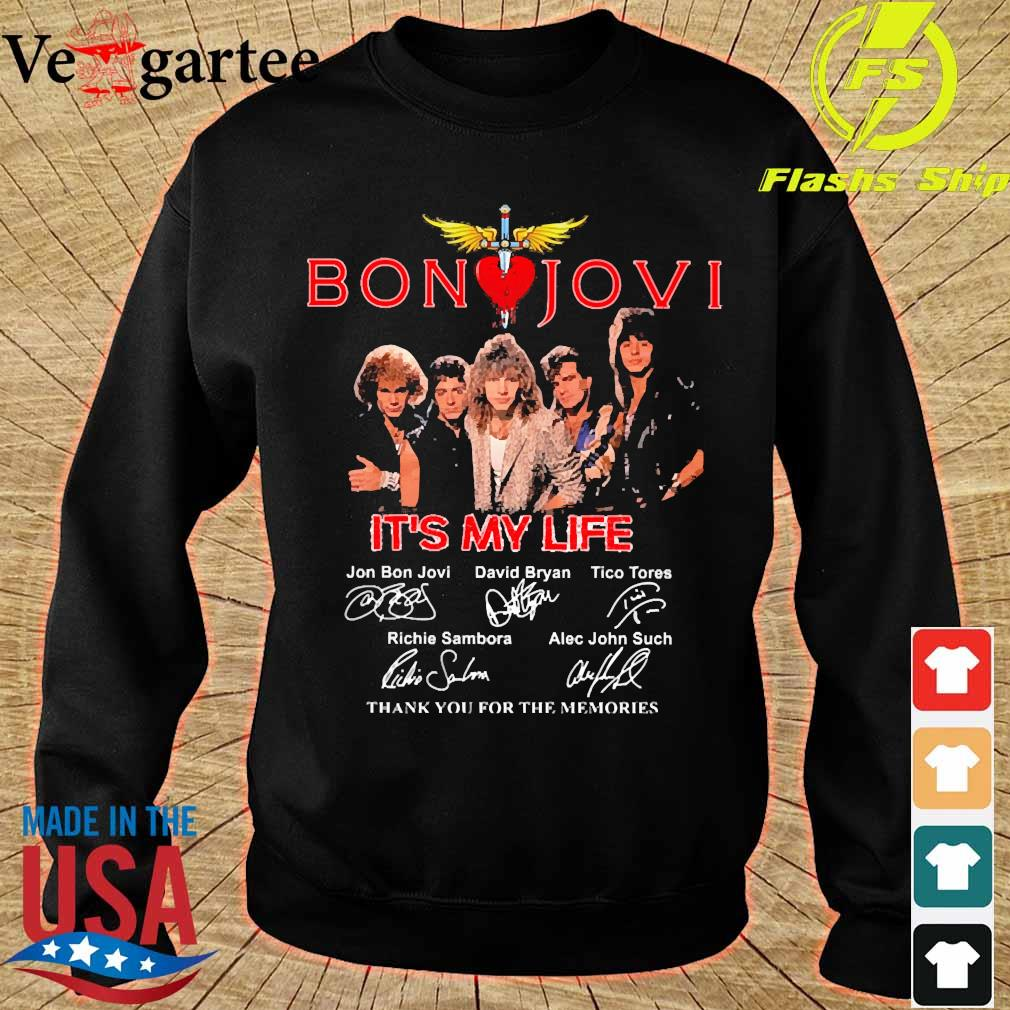 Bon Jovi It's my life thank You for the memories signatures s sweater