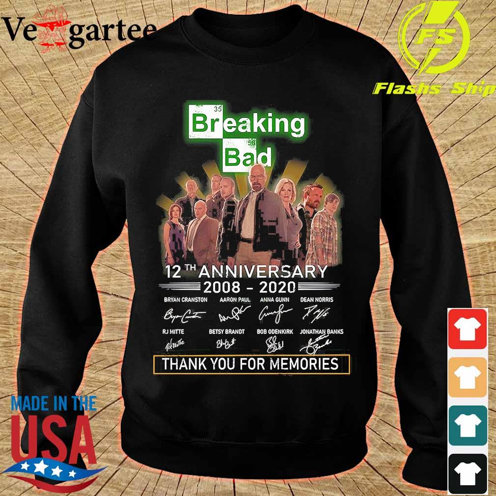 Breaking Bad 12th anniversary 2008 2020 thank You for the memories signatures s sweater