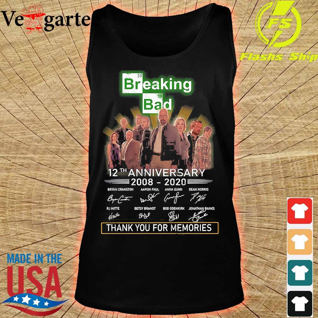 Breaking Bad 12th anniversary 2008 2020 thank You for the memories signatures s tank top
