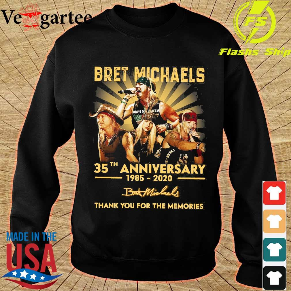 Bret Michaels 35th anniversary 1985 2020 thank You for the memories signature s sweater