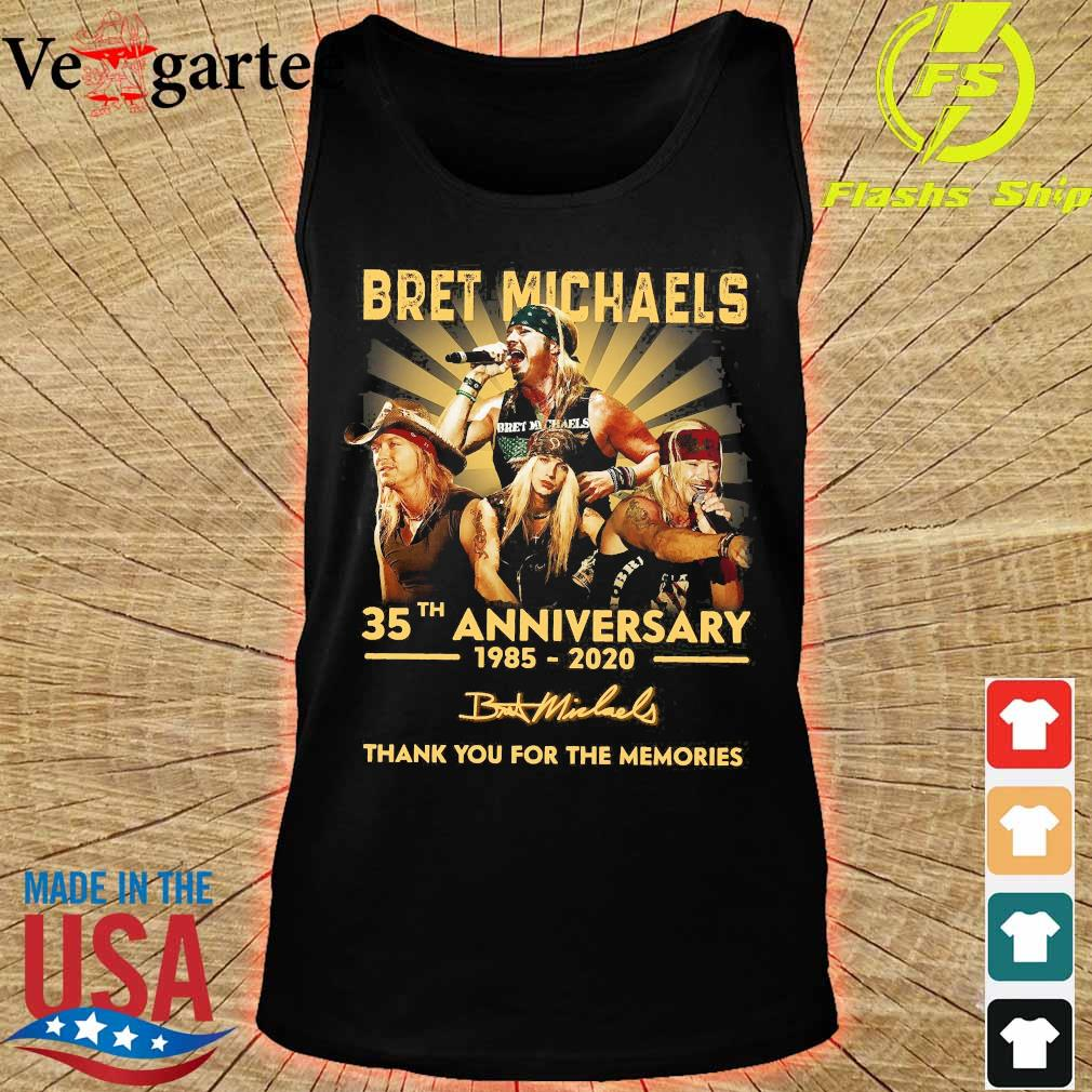 Bret Michaels 35th anniversary 1985 2020 thank You for the memories signature s tank top