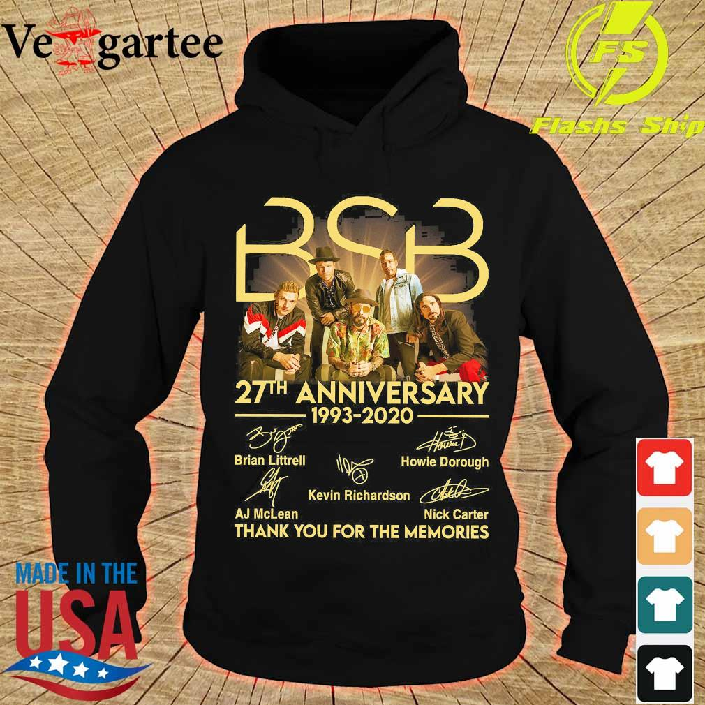 BSB 27th anniversary 1993 2020 thank You for the memories signatures s hoodie