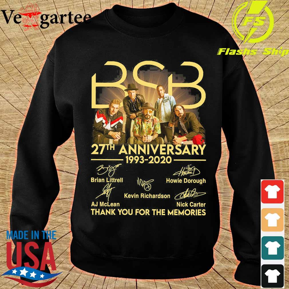 BSB 27th anniversary 1993 2020 thank You for the memories signatures s sweater