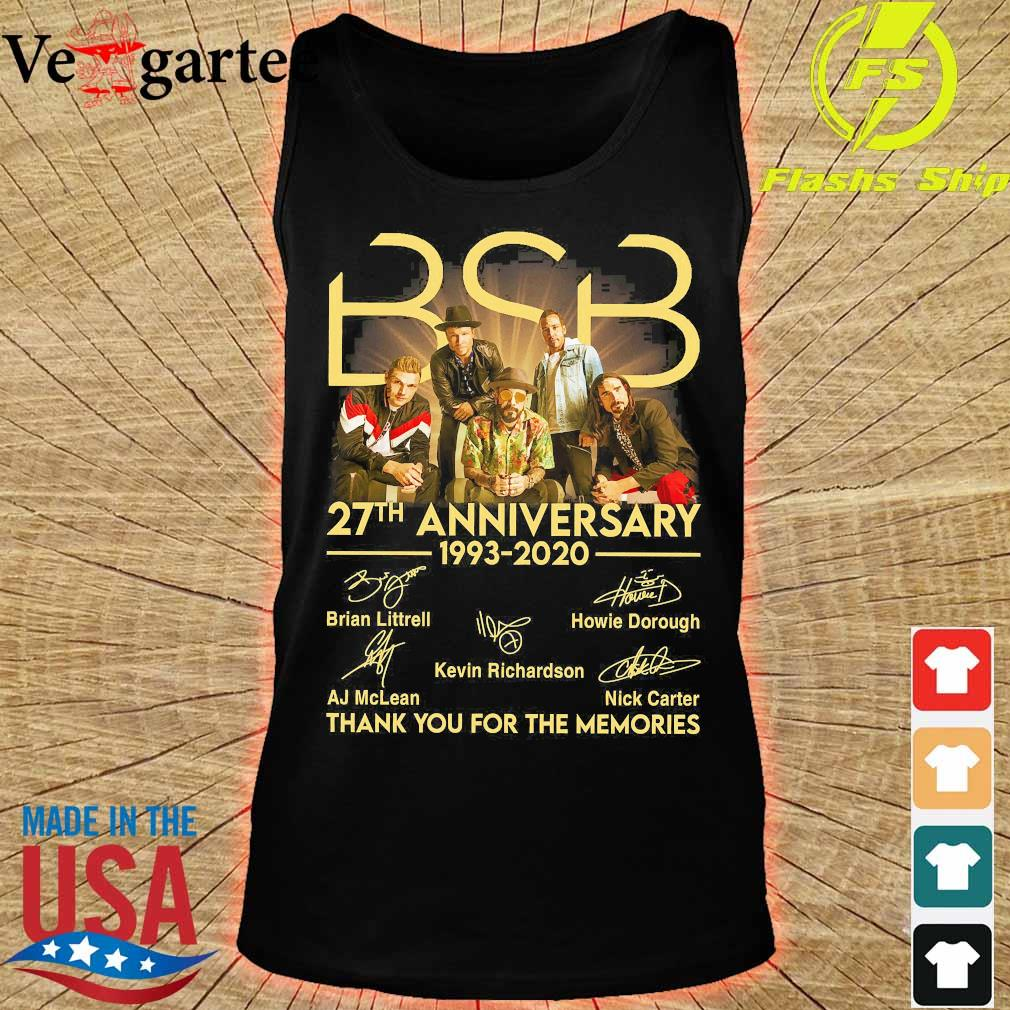 BSB 27th anniversary 1993 2020 thank You for the memories signatures s tank top
