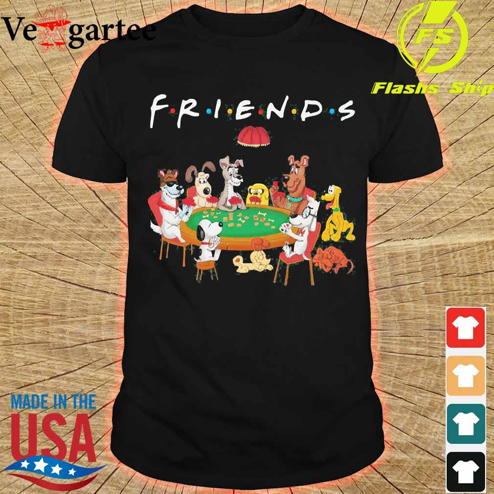 Cartoon dogs playing poker friend shirt
