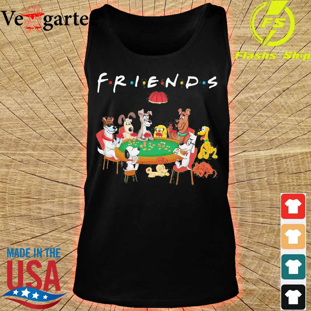 Cartoon dogs playing poker friend s tank top