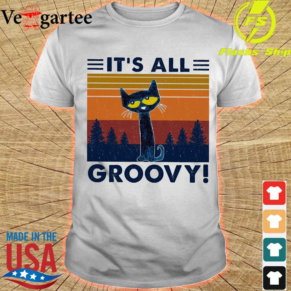 Cat It's all Groovy vintage shirt