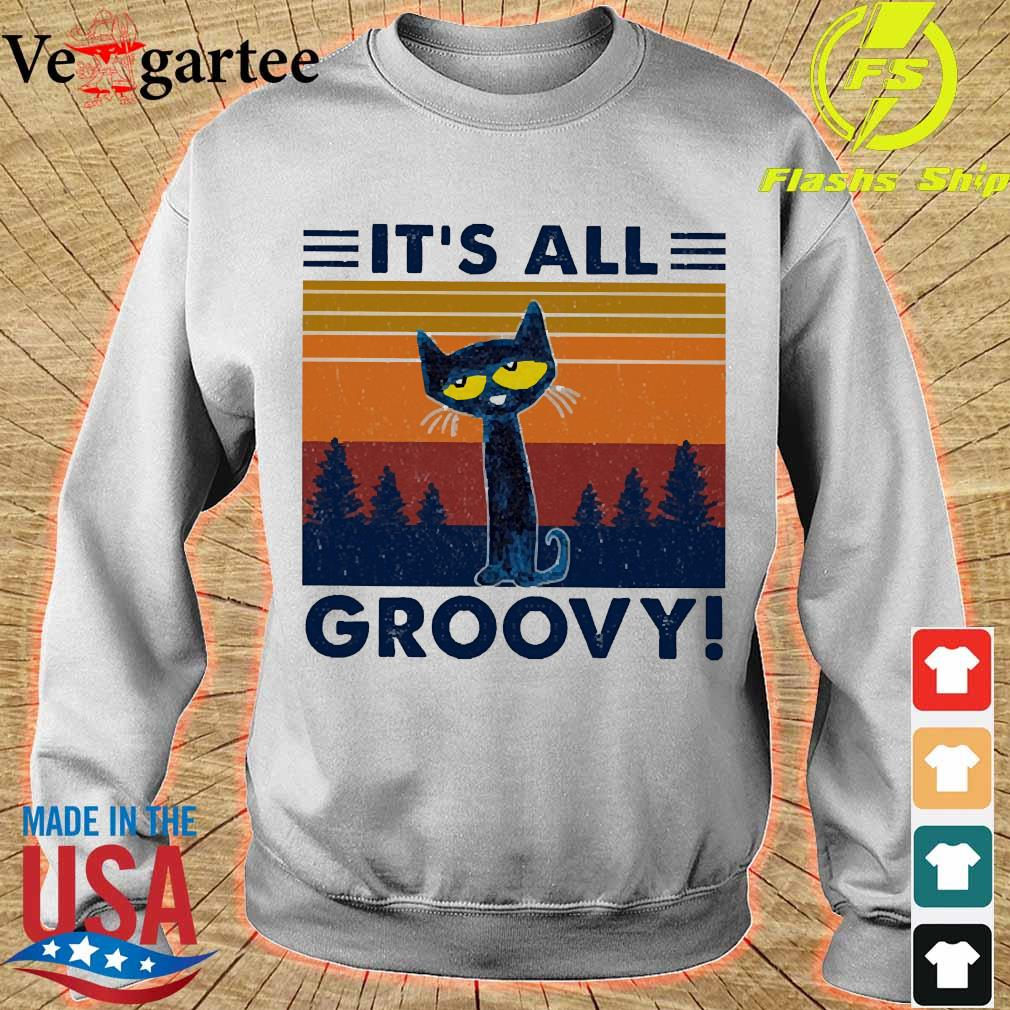 Cat It's all Groovy vintage s sweater