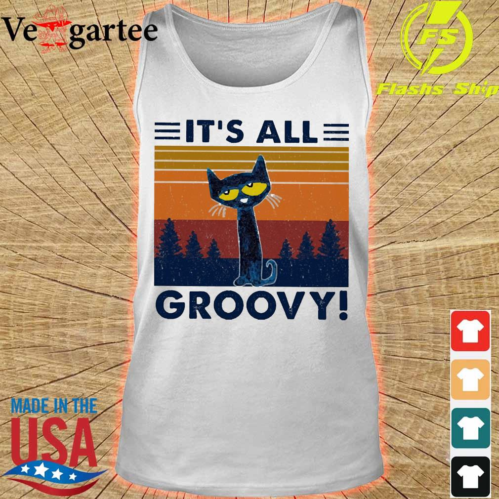 Cat It's all Groovy vintage s tank top