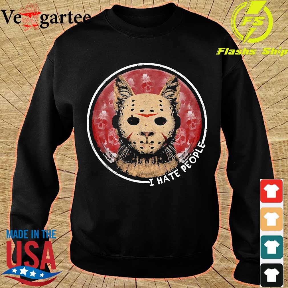 Cat Jason Voorhees I hate people s sweater