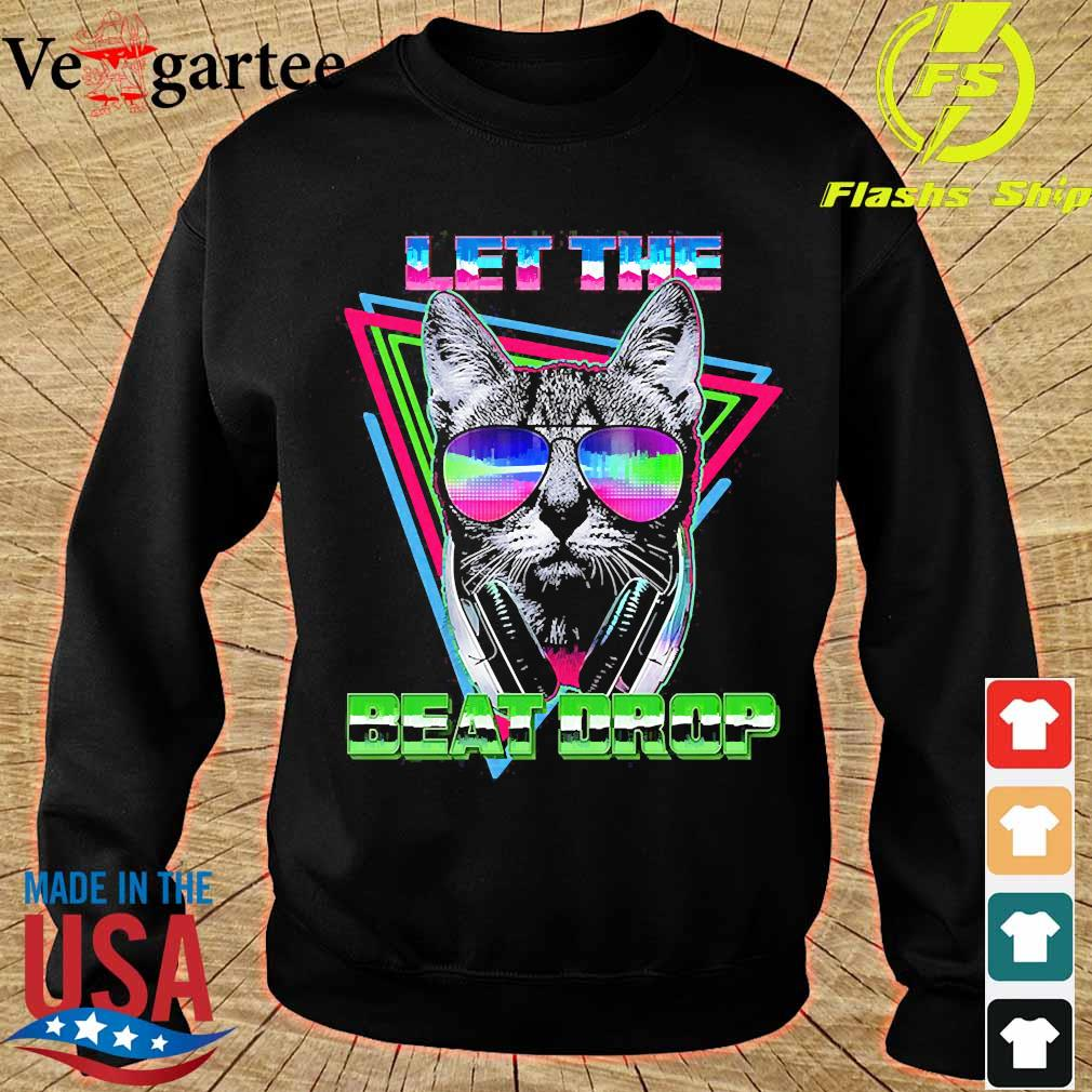 Cat let the beat drop s sweater