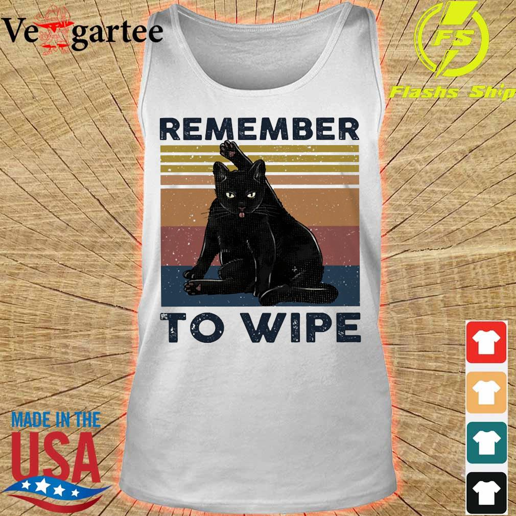 Cat Remember to wipe vintage s tank top
