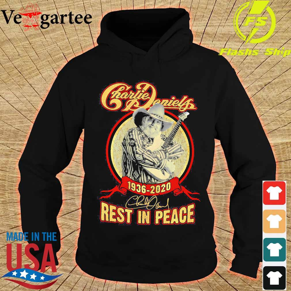 Charlie Daniels 1936 2020 rest in peace signature s hoodie