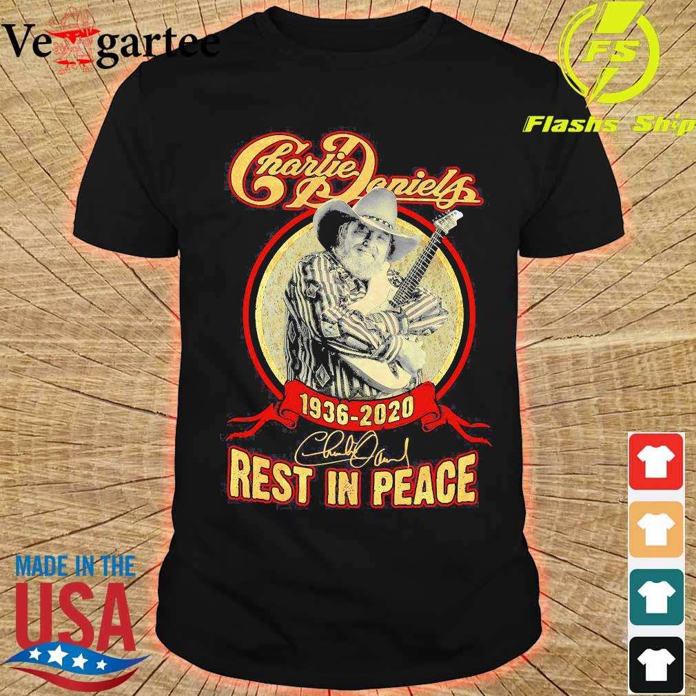 Charlie Daniels 1936 2020 rest in peace signature shirt