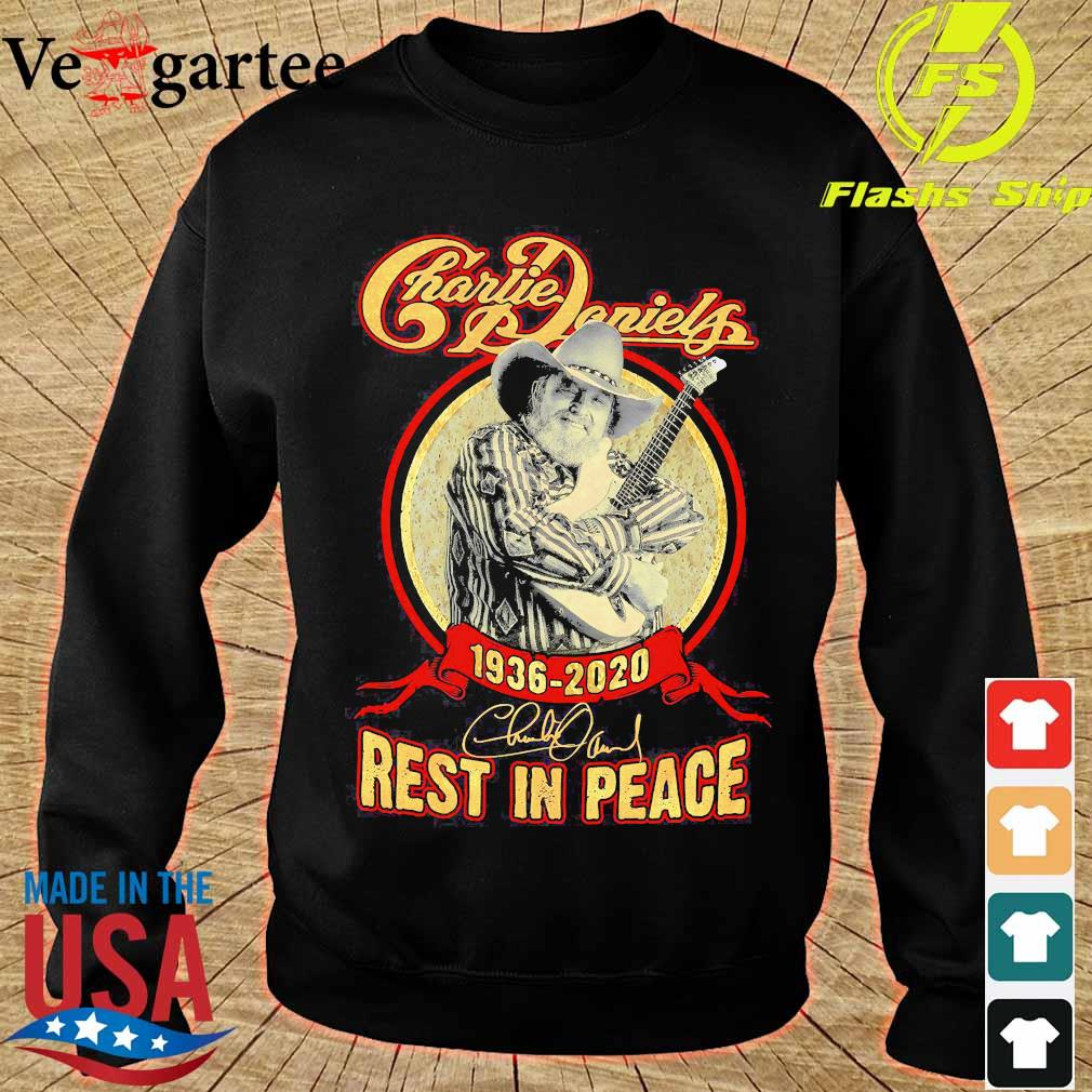 Charlie Daniels 1936 2020 rest in peace signature s sweater