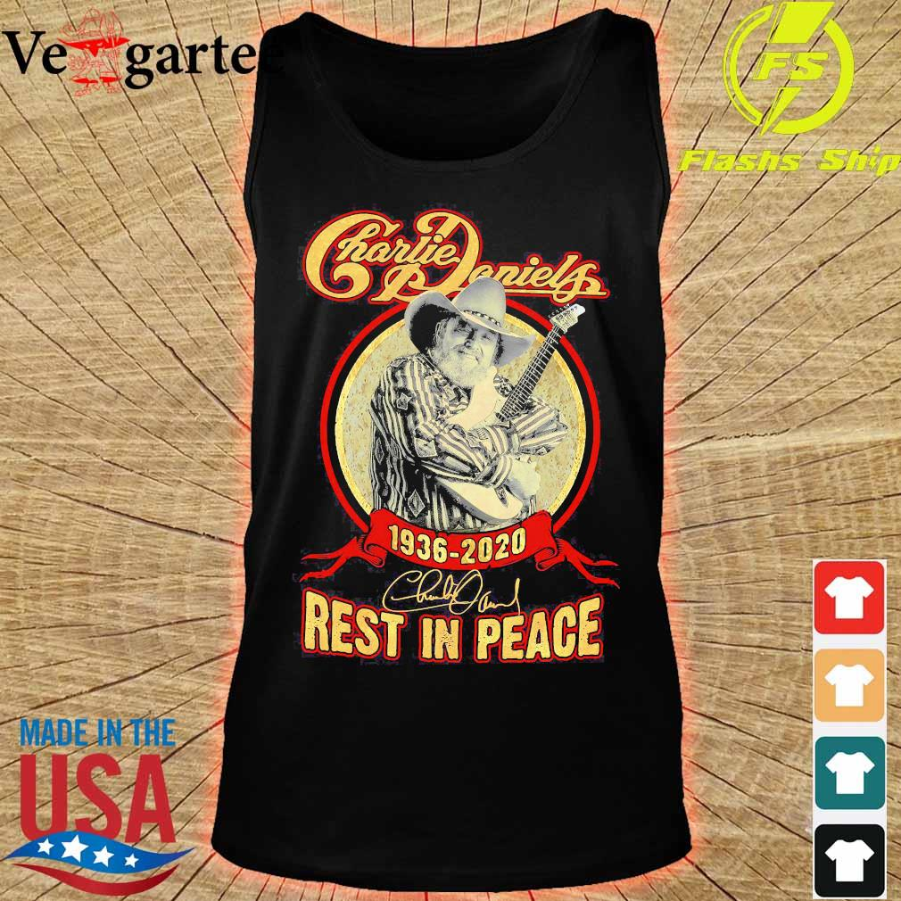 Charlie Daniels 1936 2020 rest in peace signature s tank top