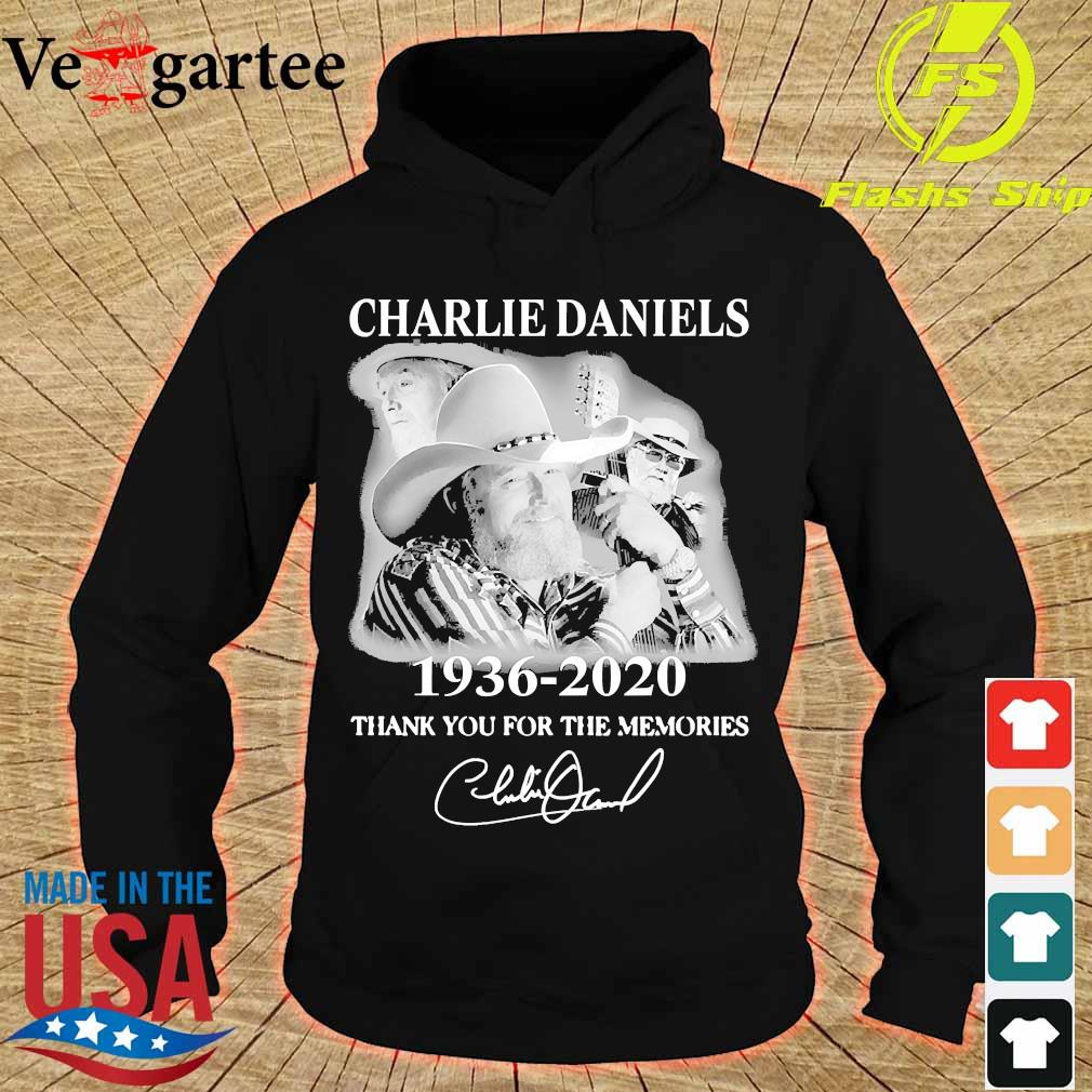 Charlie Daniels 1936 2020 thank You for the memories signature s hoodie