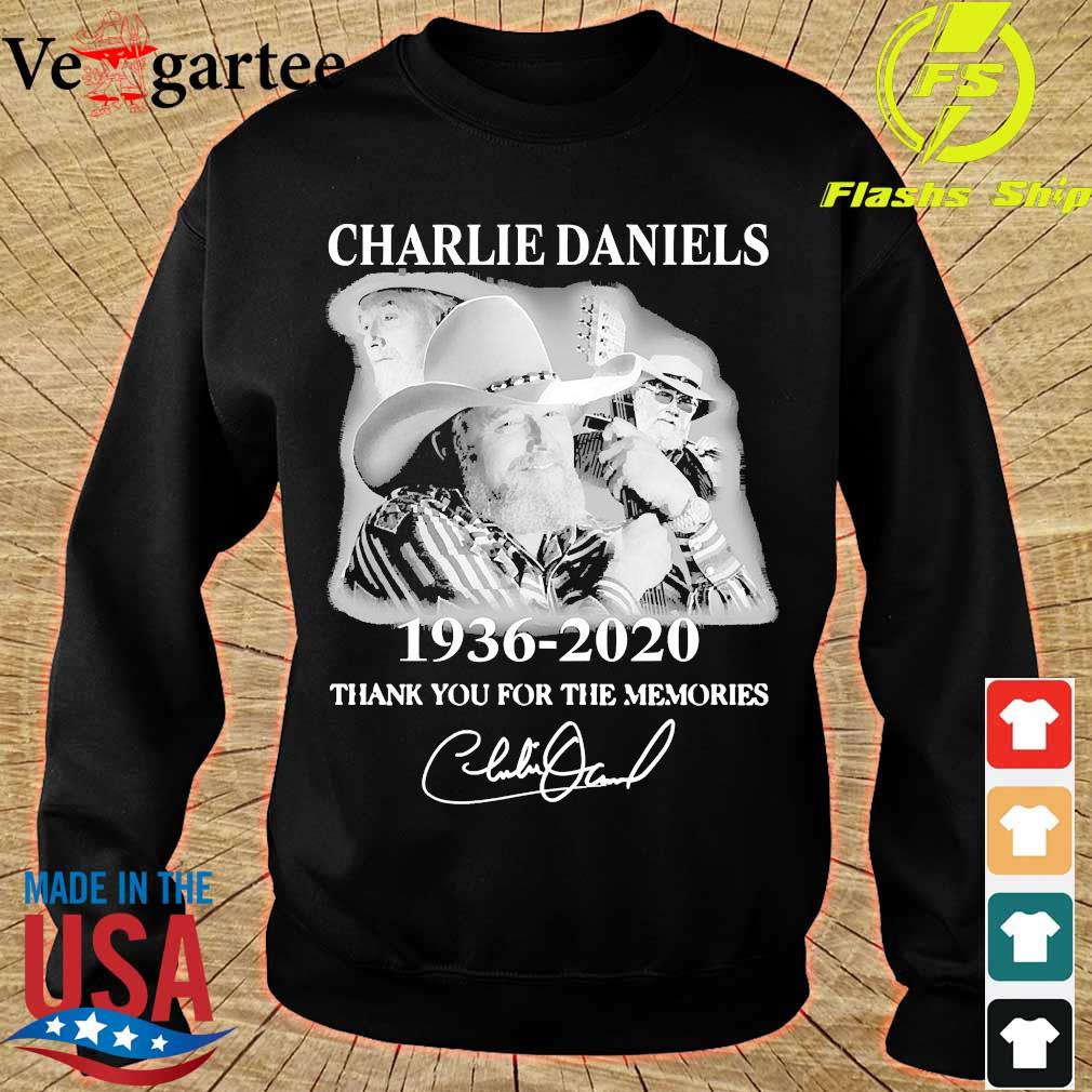 Charlie Daniels 1936 2020 thank You for the memories signature s sweater
