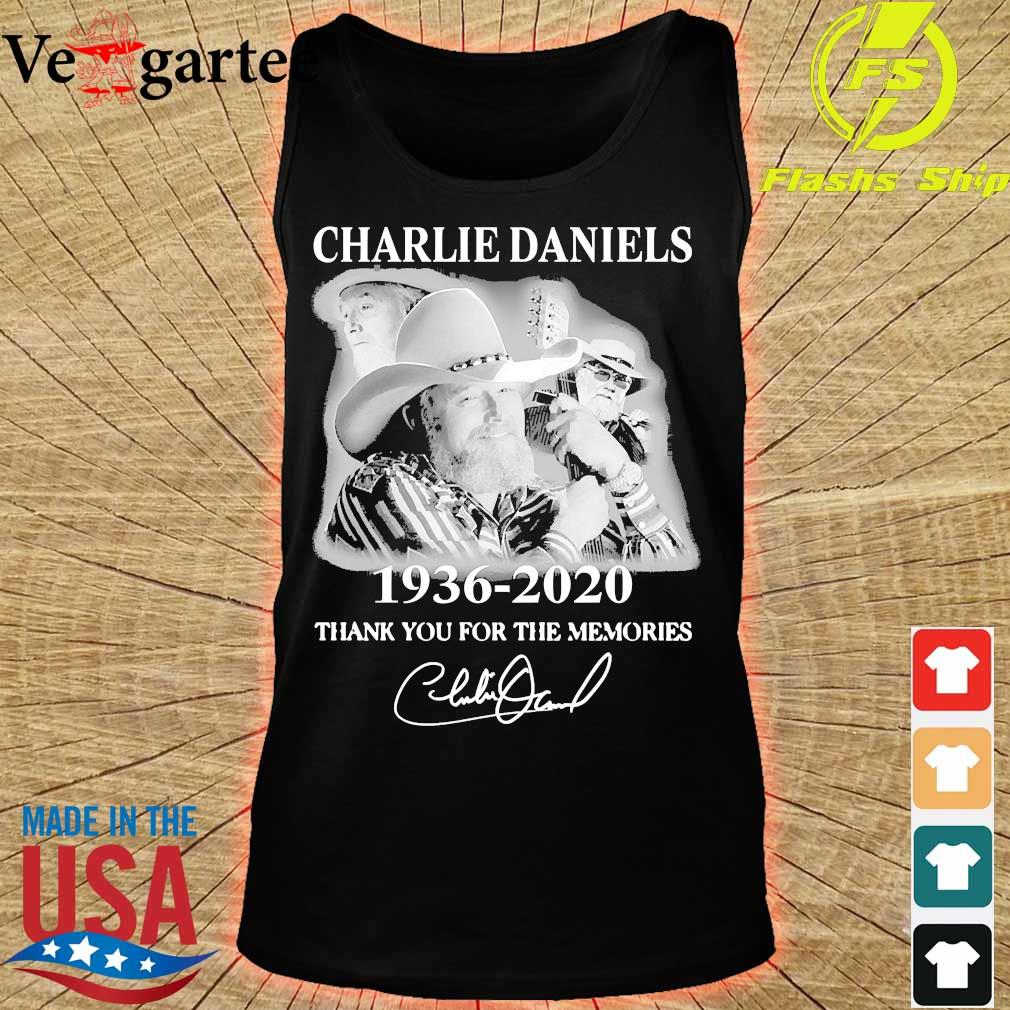 Charlie Daniels 1936 2020 thank You for the memories signature s tank top