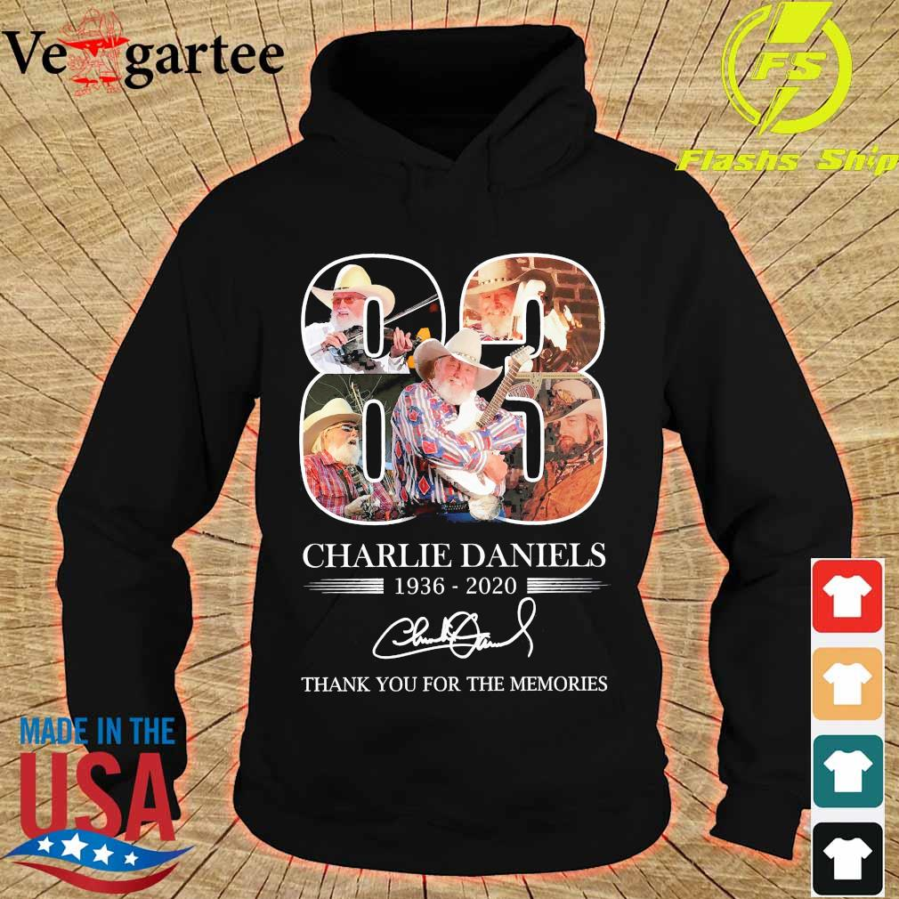 Charlie Daniels 83 1936 2020 thank You for the memories signature s hoodie
