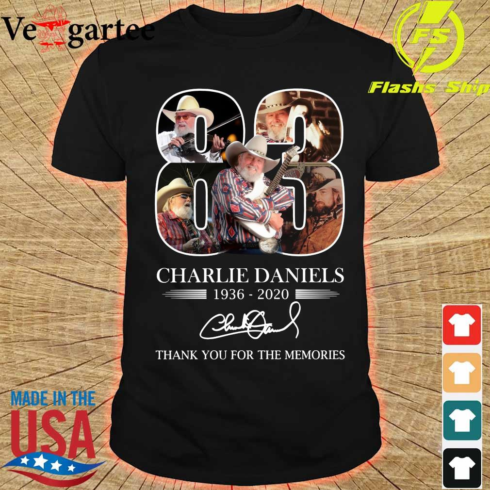 Charlie Daniels 83 1936 2020 thank You for the memories signature shirt