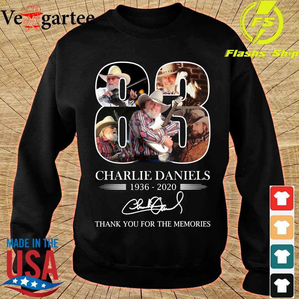 Charlie Daniels 83 1936 2020 thank You for the memories signature s sweater
