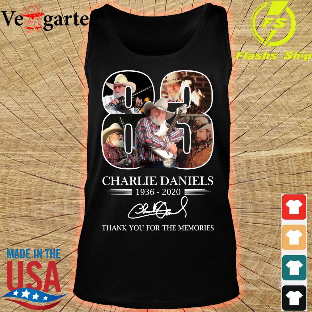 Charlie Daniels 83 1936 2020 thank You for the memories signature s tank top