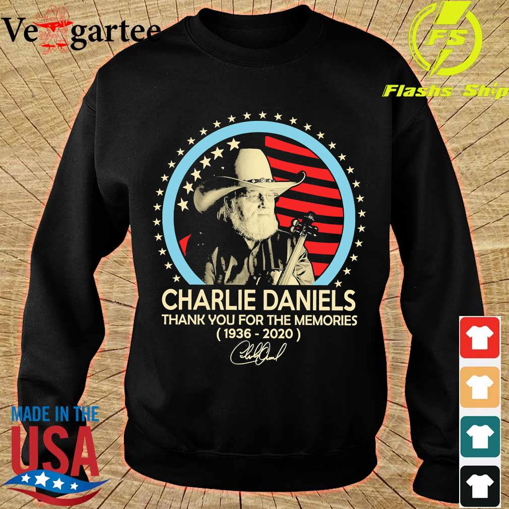 Charlie Daniels thank You for the memories 1936 2020 signature s sweater