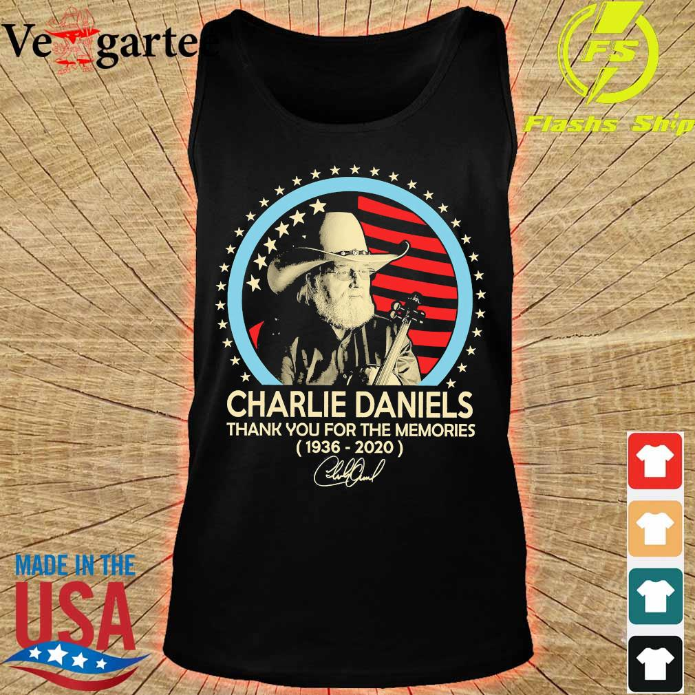 Charlie Daniels thank You for the memories 1936 2020 signature s tank top