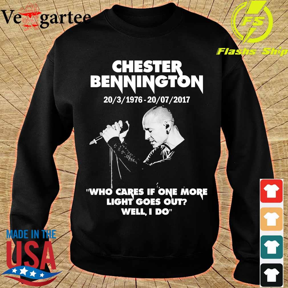 Chester Bennington 20 3 1976 20 07 2017 who cares if one more light goes out will I do s sweater