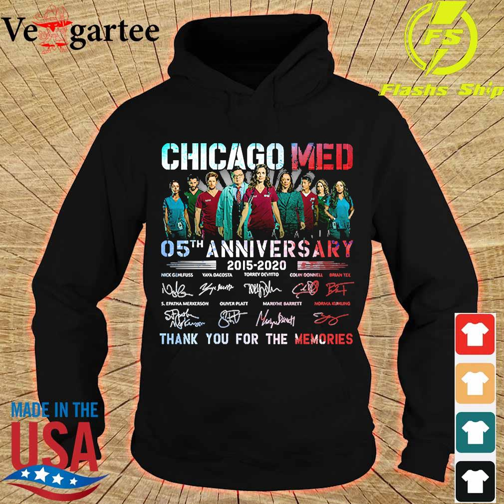 Chicago Med 05th anniversary 2015 2020 thank You for the memories signatures s hoodie