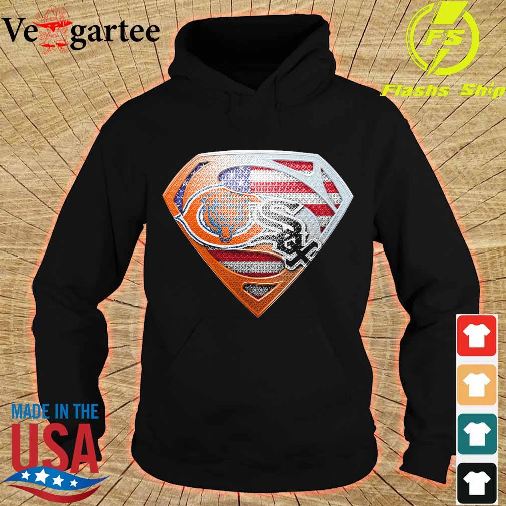 Chicago White Sox and Chicago Bears superman s hoodie