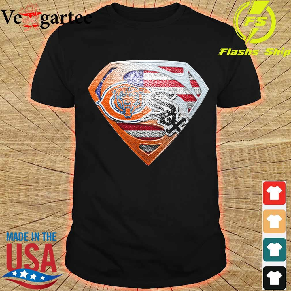 Chicago White Sox and Chicago Bears superman shirt