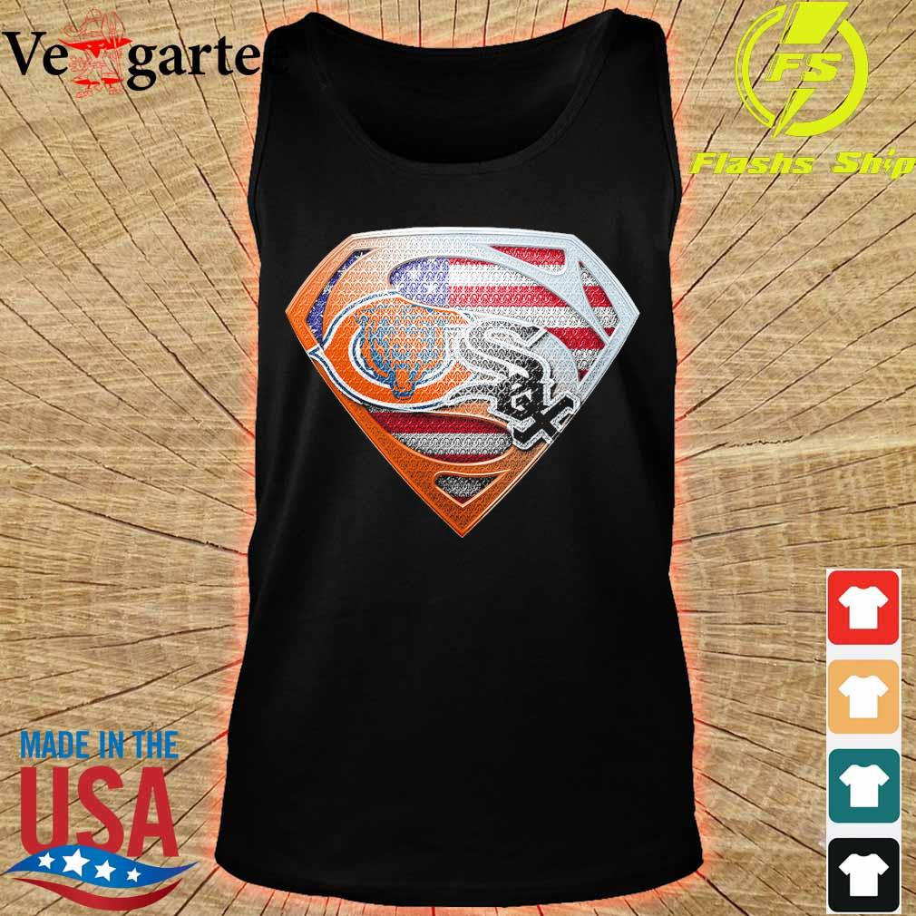 Chicago White Sox and Chicago Bears superman s tank top