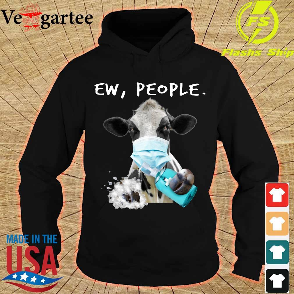 Cow face mask Ew People s hoodie