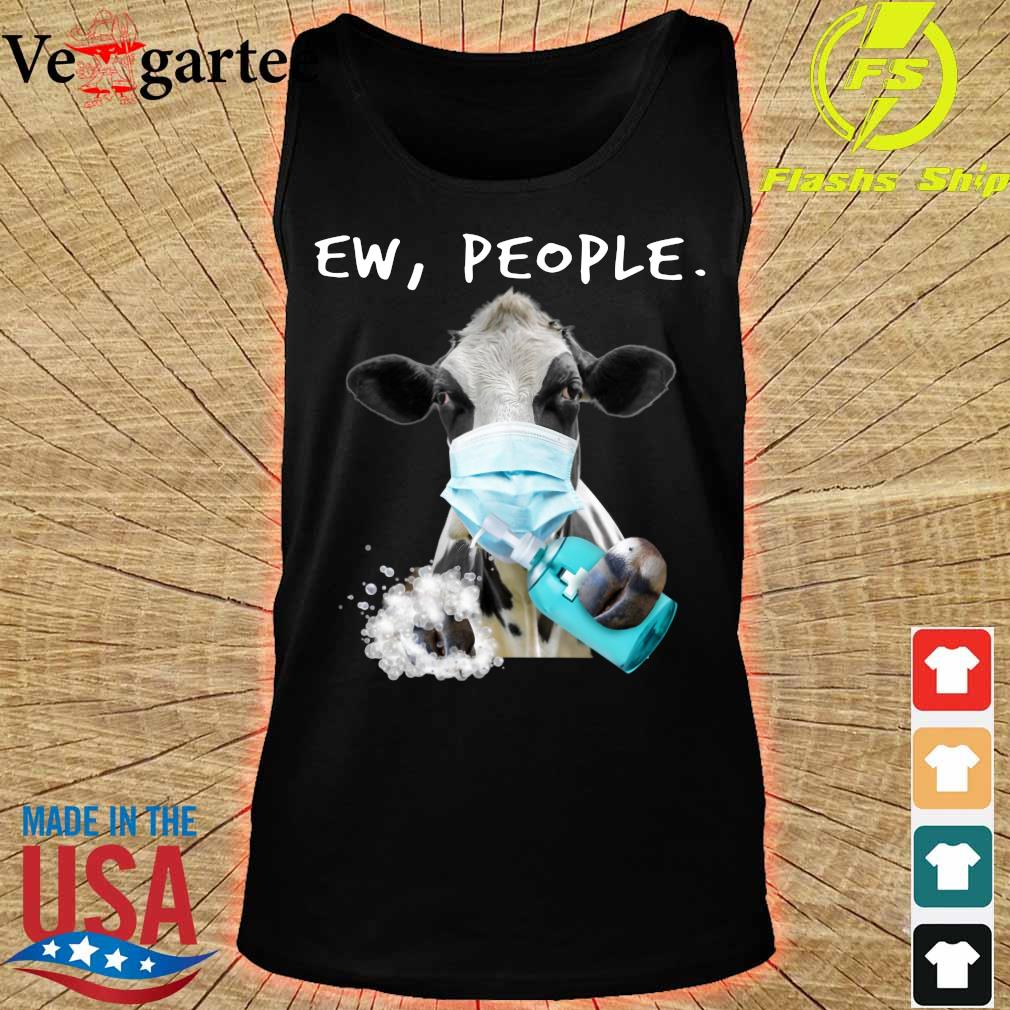 Cow face mask Ew People s tank top
