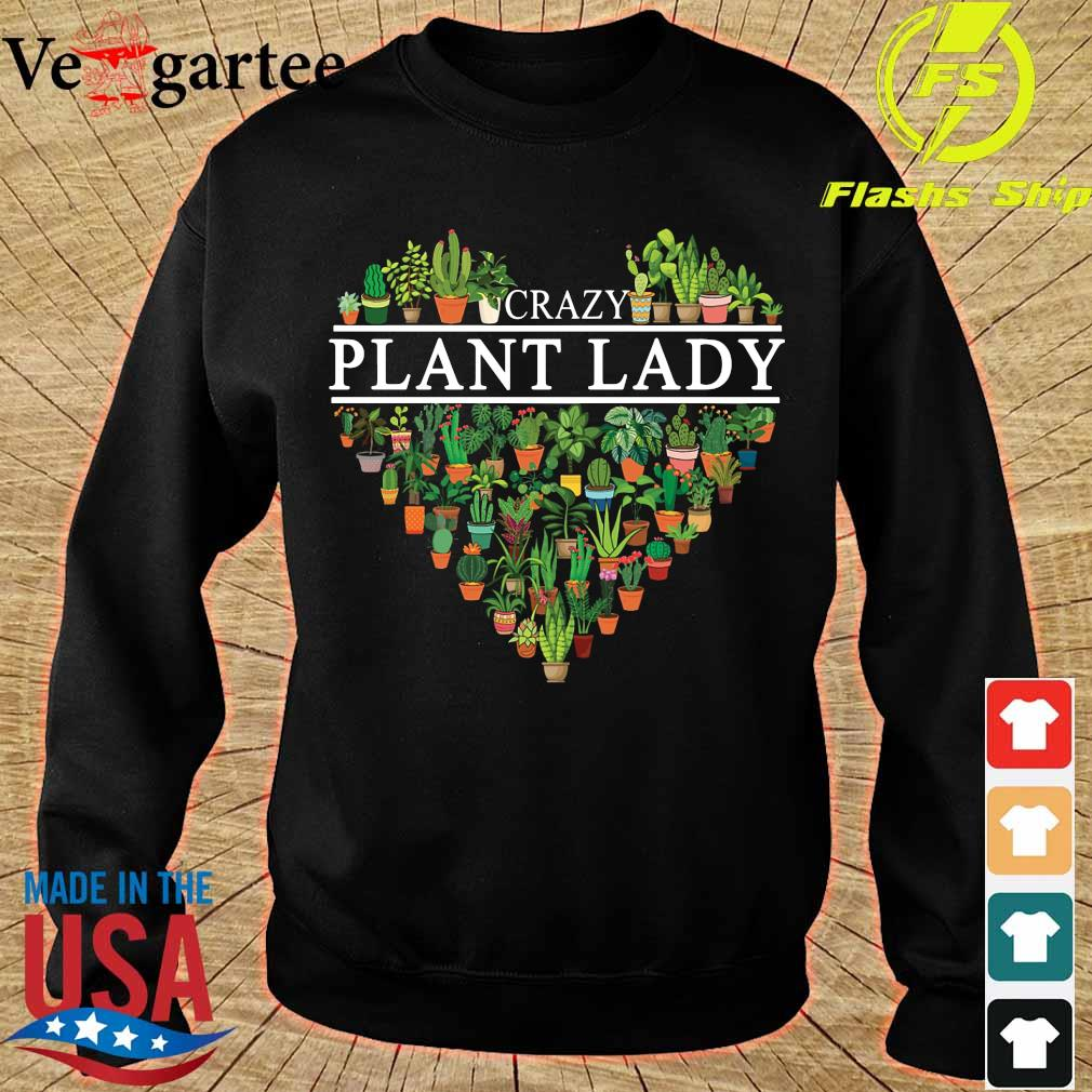 Crazy plant lady heart s sweater