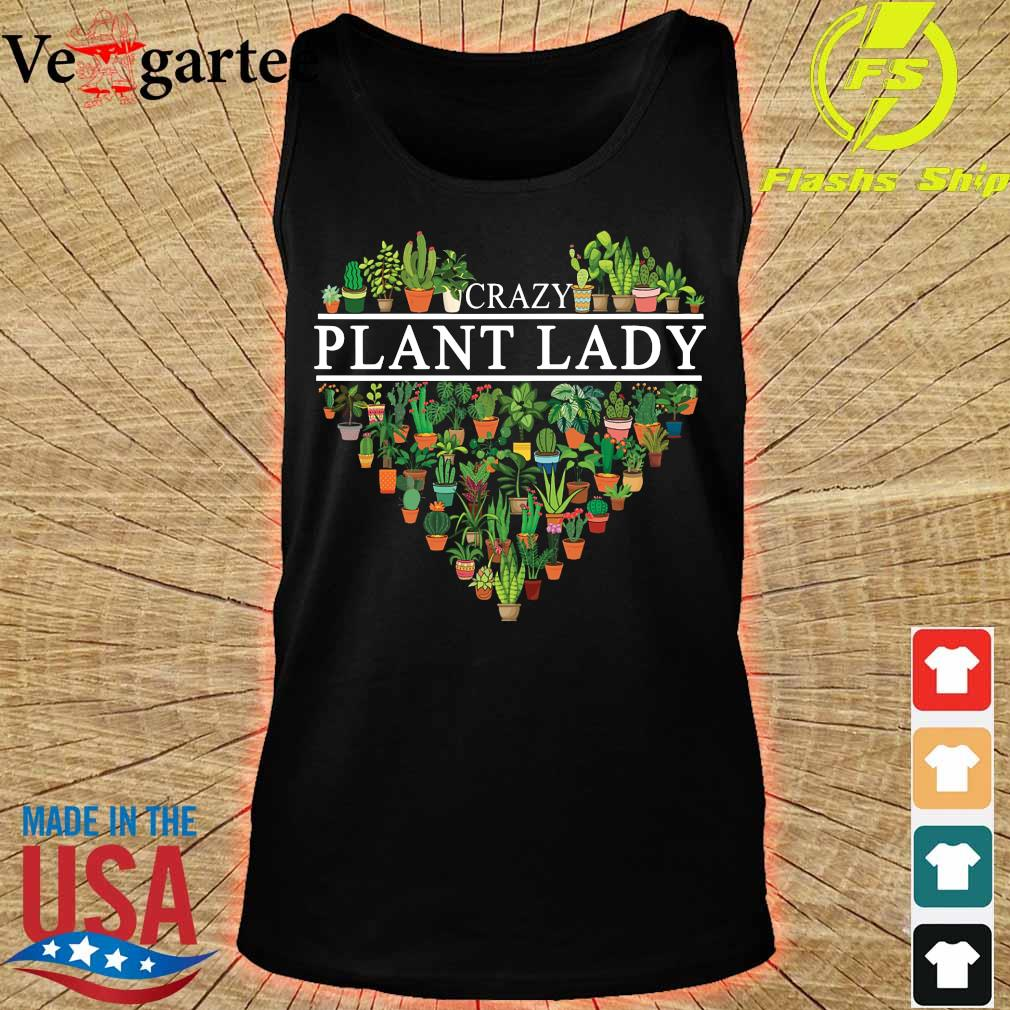 Crazy plant lady heart s tank top