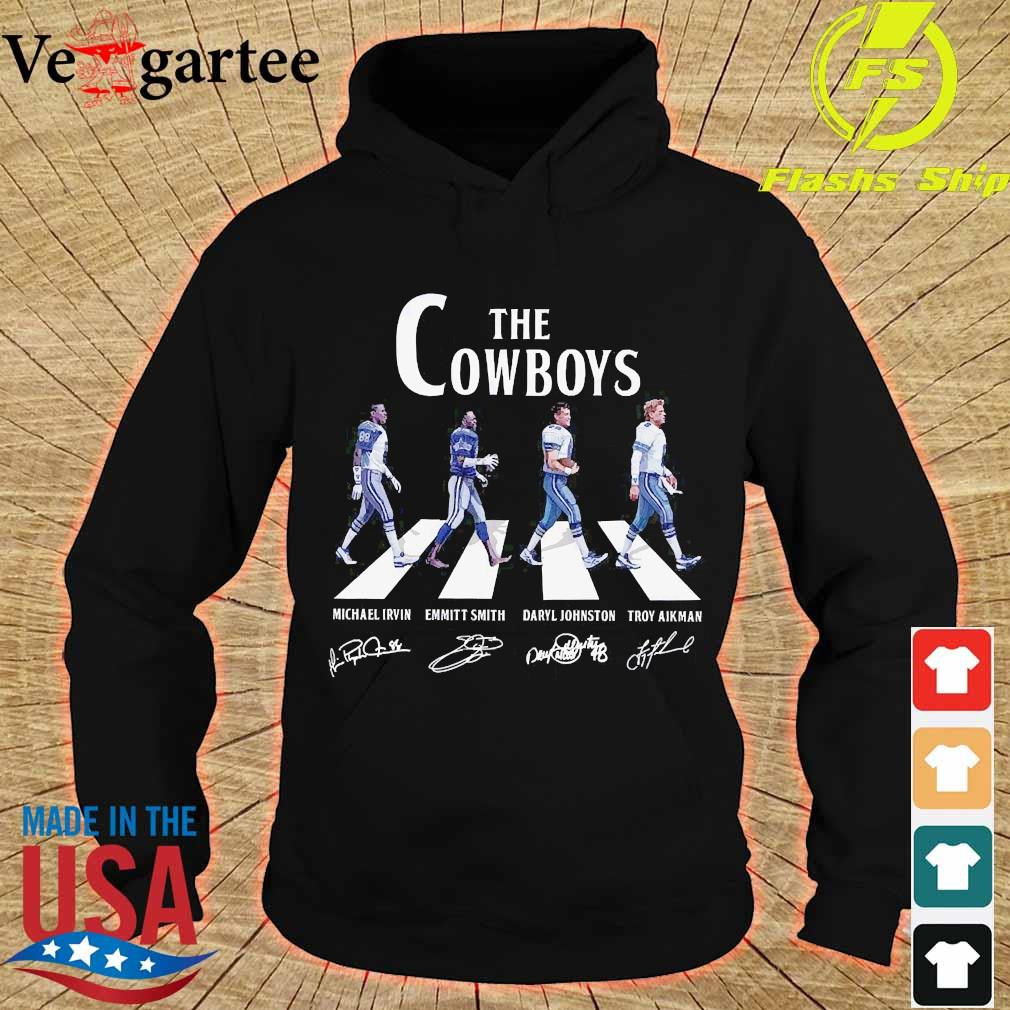 Dallas The Cowboy walking abbey road signatures s hoodie