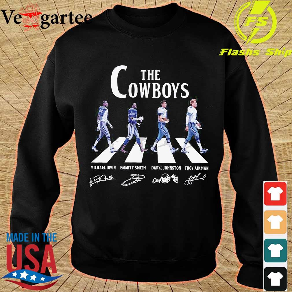 Dallas The Cowboy walking abbey road signatures s sweater