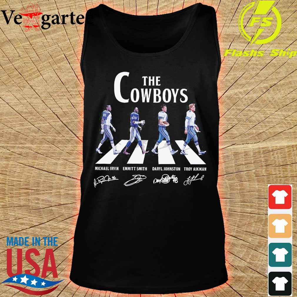 Dallas The Cowboy walking abbey road signatures s tank top