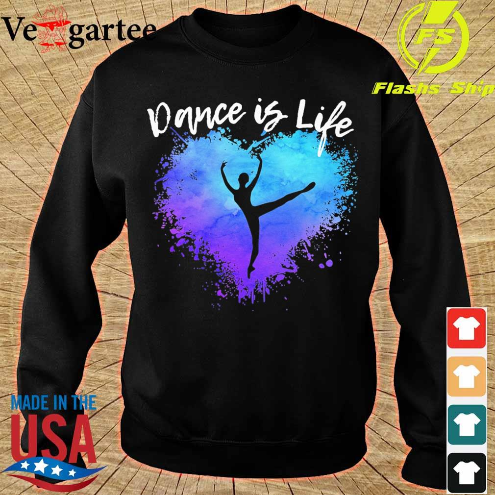 Dance is life colorful s sweater