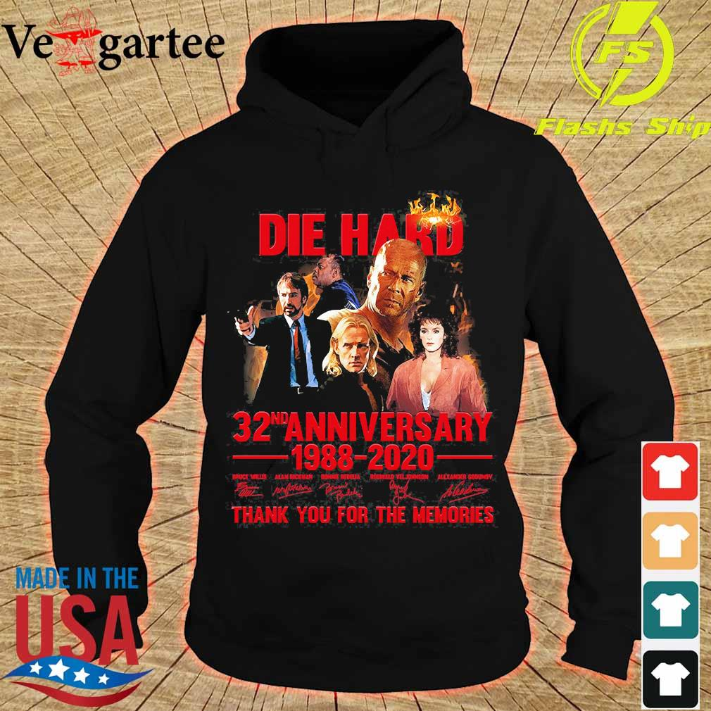 Die Hard 32nd anniversary 1988 2020 thank You for the memories signatures s hoodie
