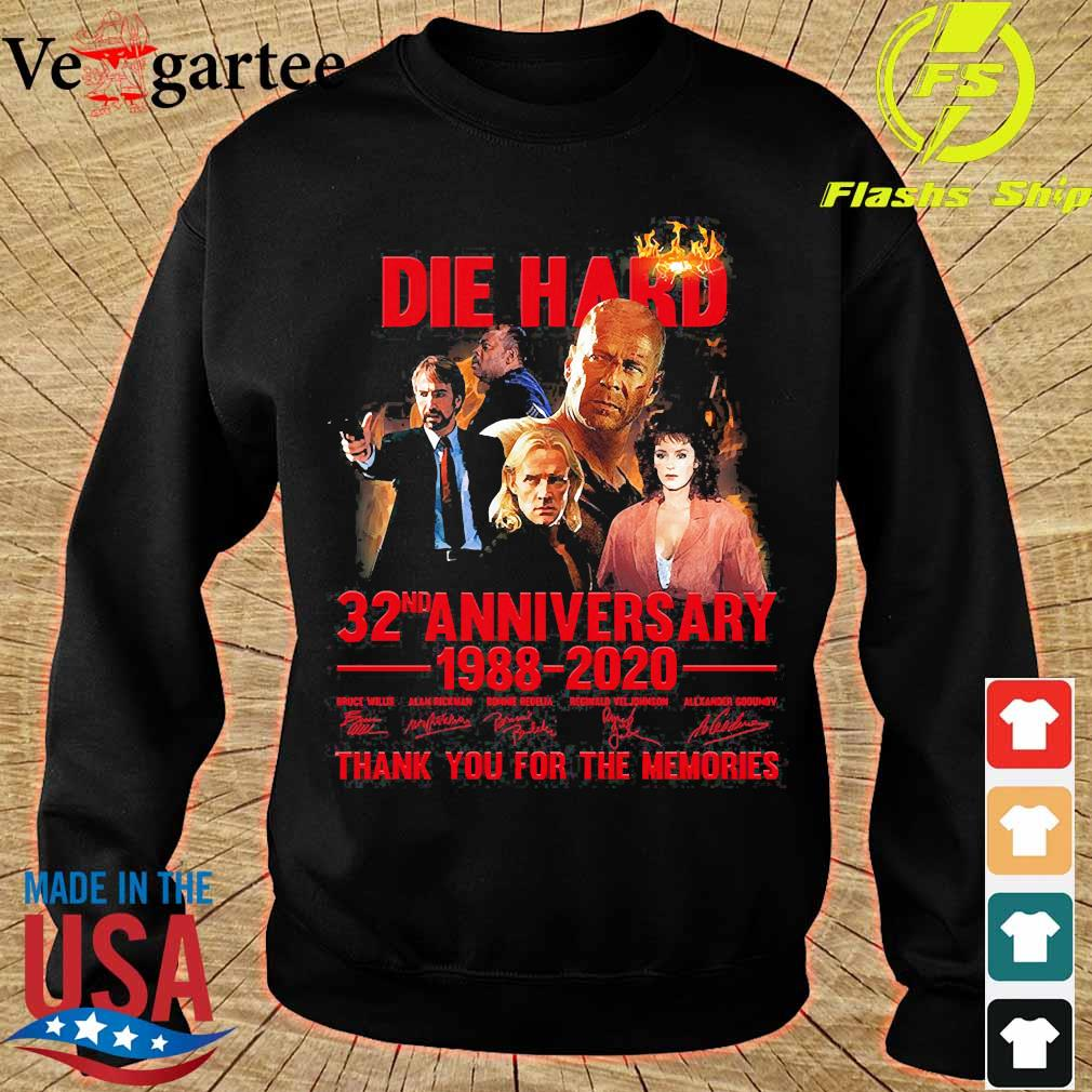 Die Hard 32nd anniversary 1988 2020 thank You for the memories signatures s sweater